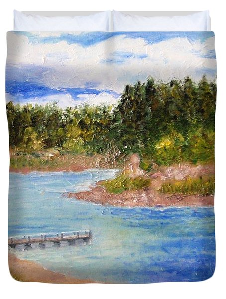 Goldwater Lake Duvet Cover by Jamie Frier