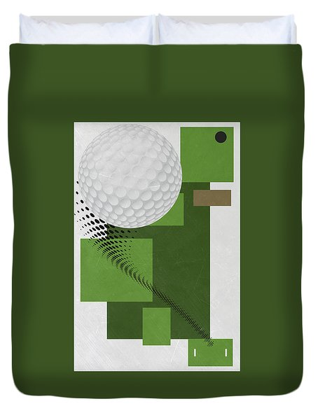 Golf Art Par 4 Duvet Cover
