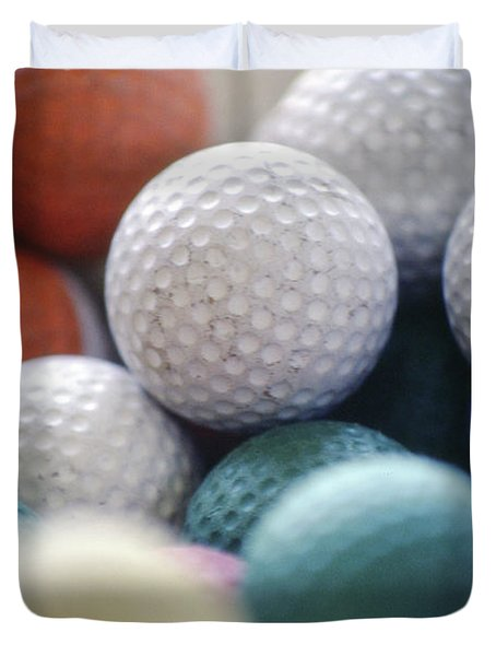 Golf Balls Duvet Cover
