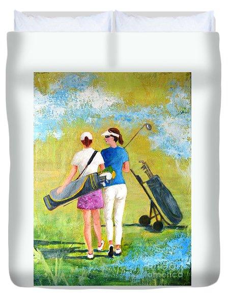 Golf Buddies #1 Duvet Cover