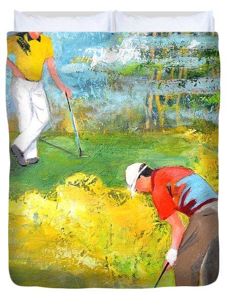 Golf Buddies #2 Duvet Cover