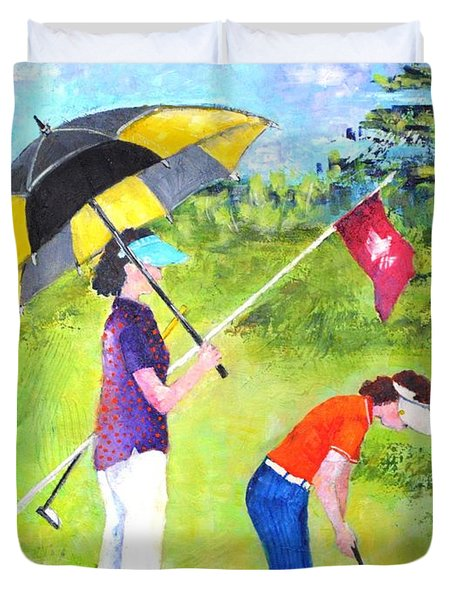 Golf Buddies #3 Duvet Cover
