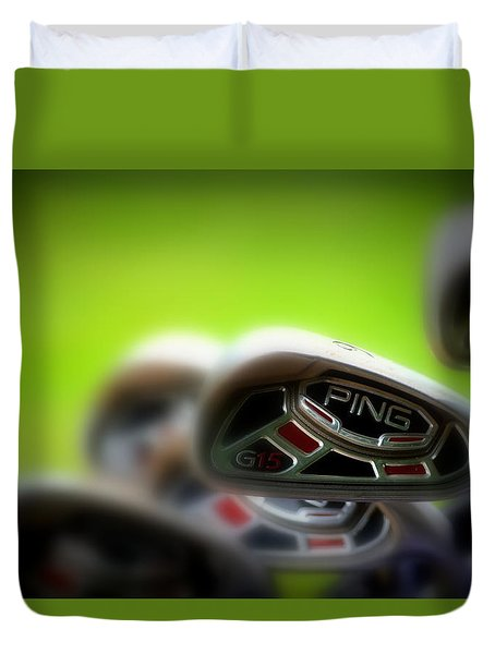 Golf Clubs 2 Duvet Cover