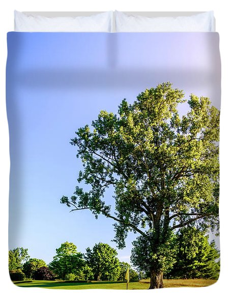 Duvet Cover featuring the photograph Golf Course by Alexey Stiop