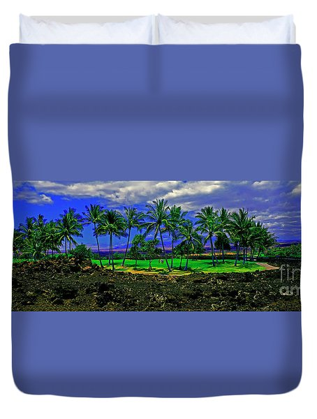 Golf Course Green In Lava Maui Duvet Cover