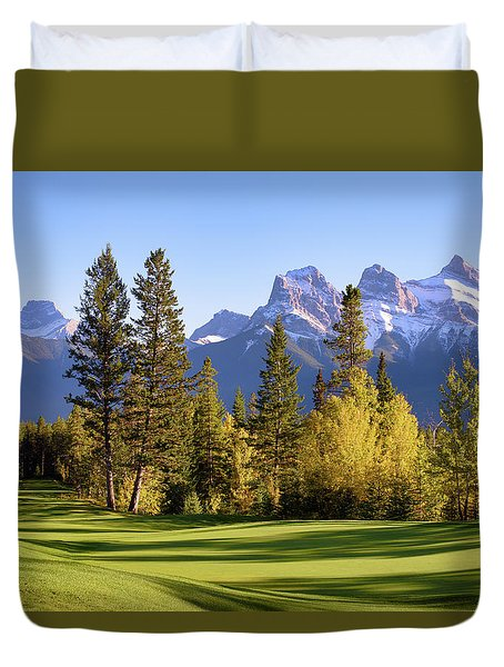 Silvertip Golf Course Duvet Cover