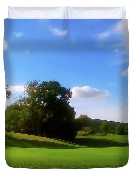 Golf Course Landscape Duvet Cover