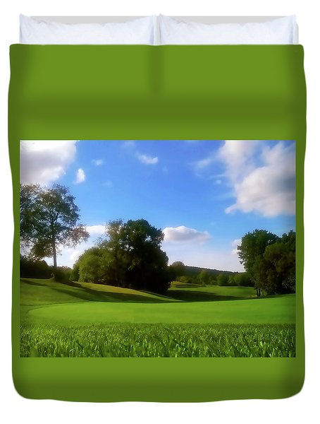 Golf Course Landscape Duvet Cover