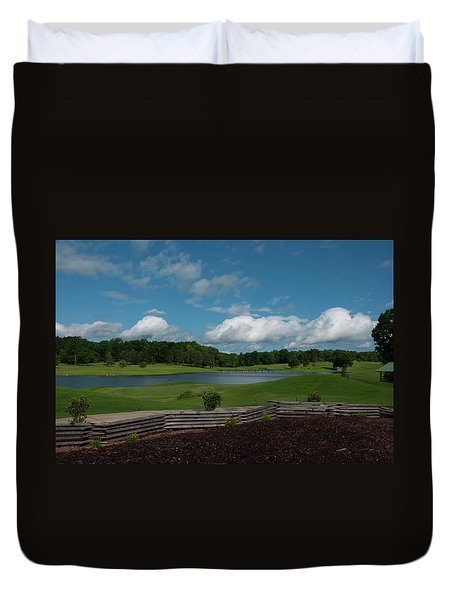 Golf Course The Back 9 Duvet Cover by Chris Flees