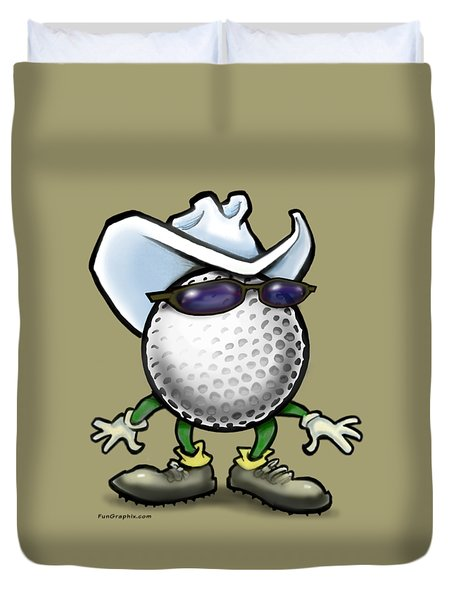 Golf Cowboy Duvet Cover