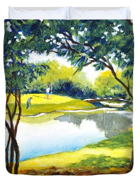 Golf Haven Duvet Cover