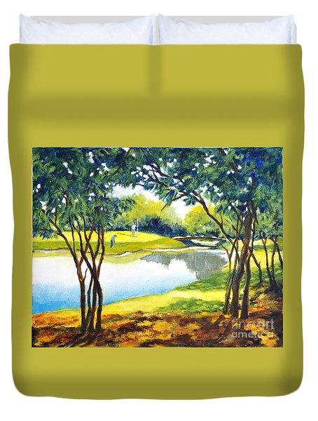 Golf Haven Duvet Cover by Betty M M Wong