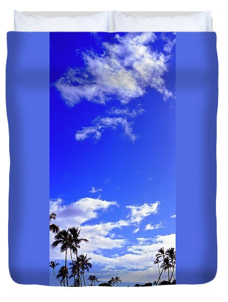 Golf In Maui Tee  Off Duvet Cover