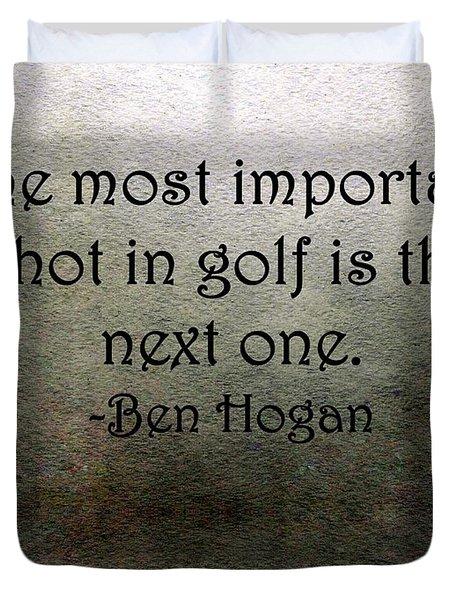 Golf Quote Duvet Cover