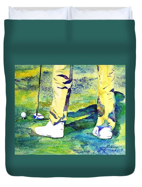 Golf Series - High Hopes Duvet Cover by Betty M M Wong