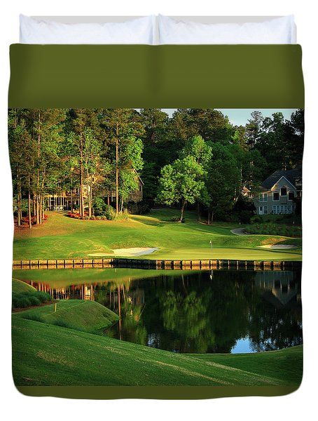 Golf The Landing #3 Reynolds Plantation Lake Oconee Ga Art Duvet Cover