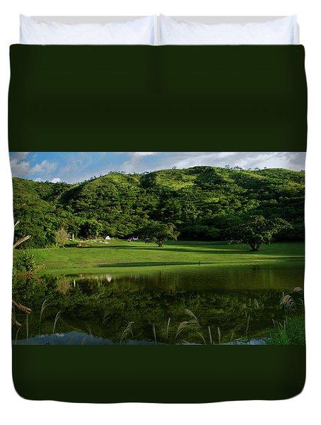 Golfito Desde La Laguna Duvet Cover by Bibi Rojas
