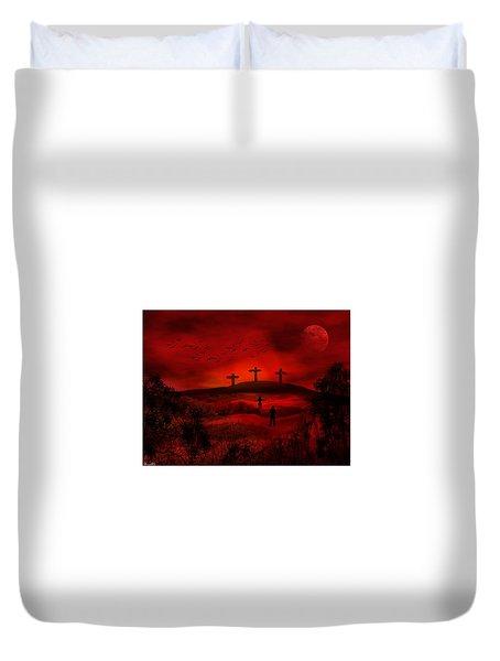 Golgotha Duvet Cover
