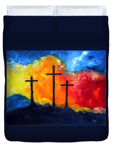 Golgotha Duvet Cover by David McGhee