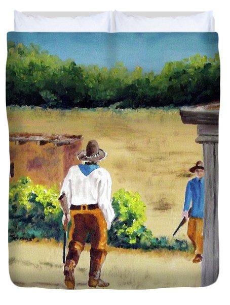 Golondrinas Rancho Riflemen Duvet Cover
