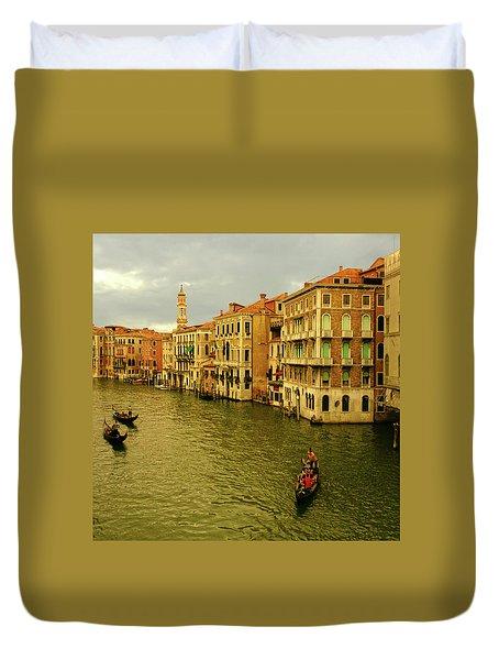 Duvet Cover featuring the photograph Gondola Life by Anne Kotan