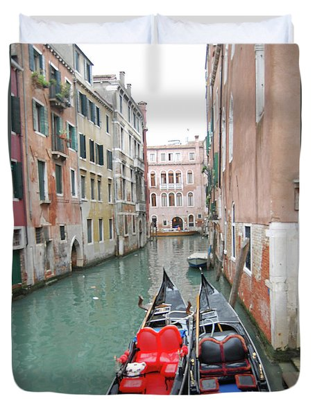 Gondola Love Duvet Cover