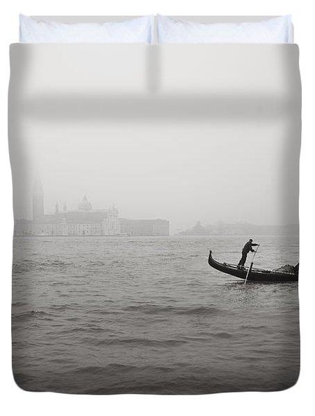 Gondola Nella Nebbia 193042x Duvet Cover