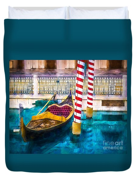 Gondola Duvet Cover by Perry Webster