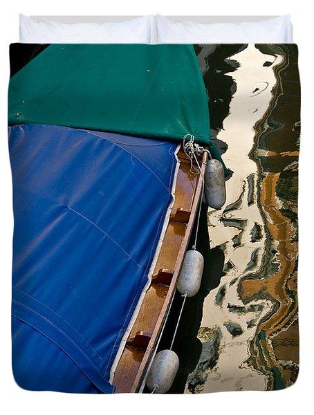 Gondola Reflection Duvet Cover