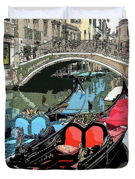 Gondolas Fresco  Duvet Cover