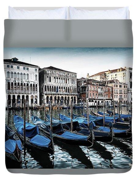 Gondolas Duvet Cover