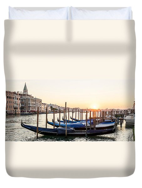 Gondolas Sunrise 00323 Duvet Cover