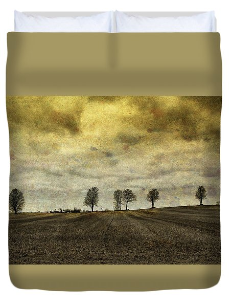 Gone Are Our Days Of Happiness.... Duvet Cover