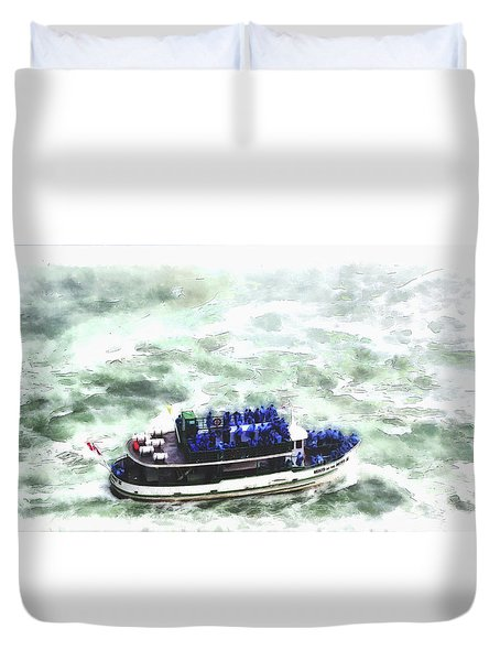 Maid Of The Mist Duvet Cover
