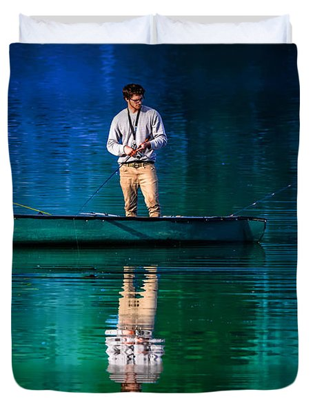 Gone Fishin'  Duvet Cover by Brian Stevens