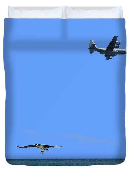 Herky Bird And Osprey Duvet Cover