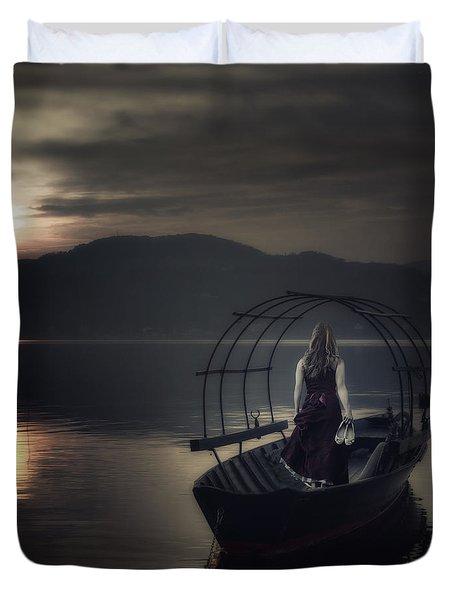 Gone Fishing Duvet Cover by Joana Kruse