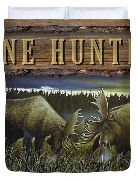 Gone Hunting - Locked At Lac Seul Duvet Cover