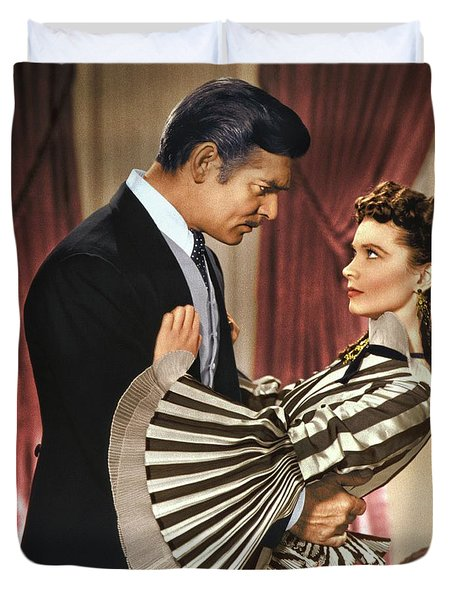 Gone With The Wind - 1939 - Completely Retouched In Color Duvet Cover