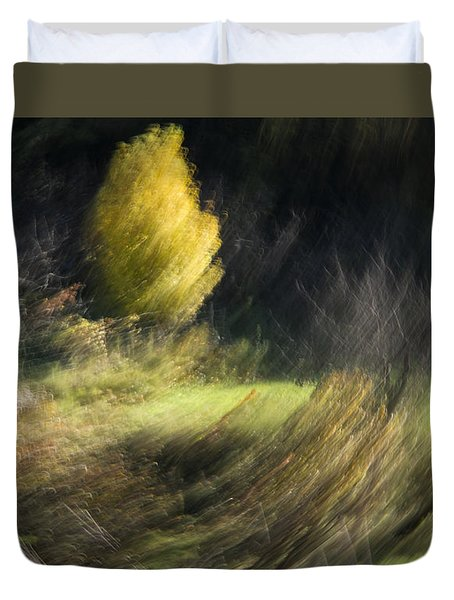 Duvet Cover featuring the photograph Gone With The Wind by Raffaella Lunelli