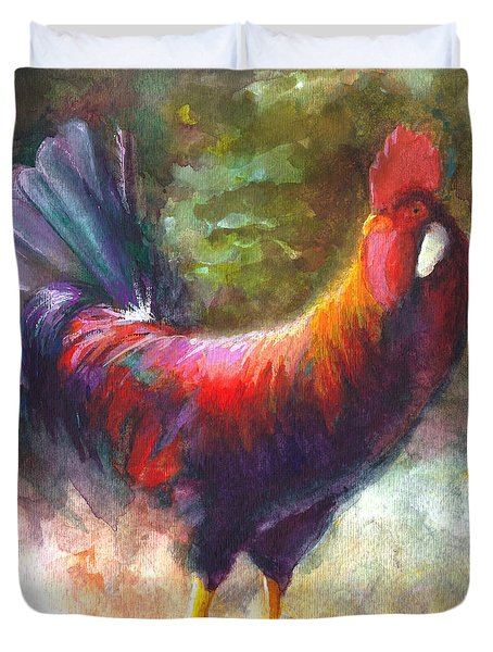 Gonzalez The Rooster Duvet Cover