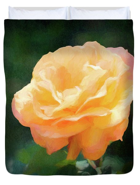 Good As Gold Painted Rose Duvet Cover