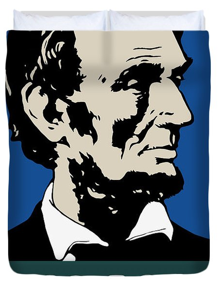 Good Books Build Character - President Lincoln Duvet Cover
