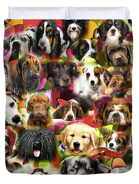 Duvet Cover featuring the photograph Good Boys by John Rizzuto