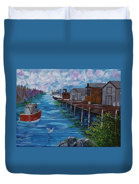Good Day Fishing Duvet Cover by Mike Caitham
