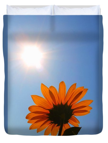 Duvet Cover featuring the photograph Good Day Sunshine by Jesse Ciazza