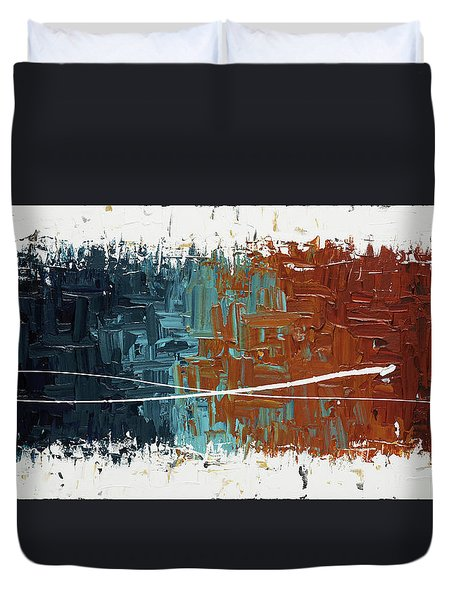 Duvet Cover featuring the painting Good Feeling - Abstract Art by Carmen Guedez
