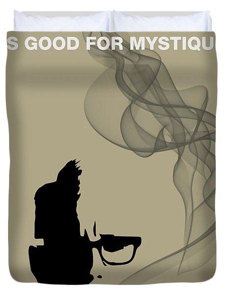 Good For Mystique - Mad Men Poster Roger Sterling Quote Duvet Cover