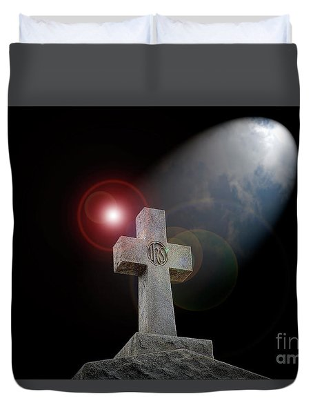 Duvet Cover featuring the photograph Good Friday by Bonnie Barry