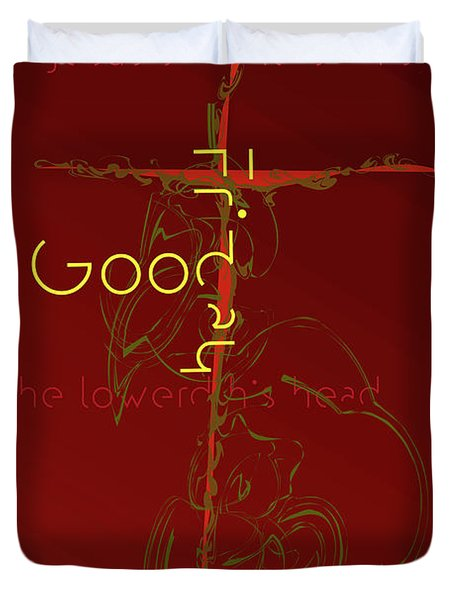 Good Friday Duvet Cover by Chuck Mountain